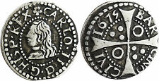 BARCELONE  ,  CHARLES  II  D' ESPAGNE  ,  1  REAL  ARGENT  1675