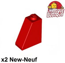 Lego - 2x slope brique pente inclinée 65 2x1x2 rouge/red 60481 NEUF