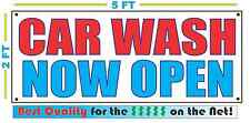 CAR WASH NOW OPEN Banner Sign NEW Larger Size Best Quality for the $$$