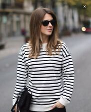 Rare S_NWT ZARA STRIPED SWEATSHIRT TOP SHIRT BLOUSE bloggers fav