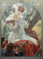 Sarah Bernhardt, by Alphonse Mucha Art Nouveau Advertising Canvas Print 22x30