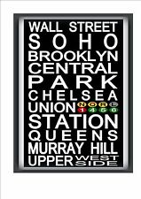 New York Subway Reproduction Sign NYC Subway Sign Broadway Times Square