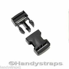100 x 20mm Black Plastic Side Release Buckles for webbing Quick Release Buckles