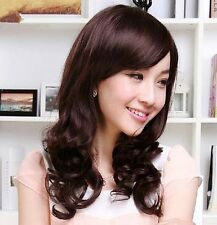 Intellectuality Sexy Womens Long Curly 50% Human Hair Full Wig Party Wigs/ PO241