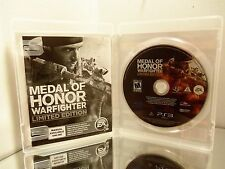 PS3 Play Station 3 Metal Of Honor Warfighter Limited Edition LN Complete