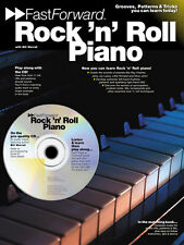 Fast Forward Rock N Roll Piano Learn to Play Pop Lesson Sheet Music Book & CD