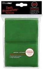 (100) *NEW* ULTRA PRO CARD SLEEVES Green Deck Protectors MTG Magic FREE SHIPPING