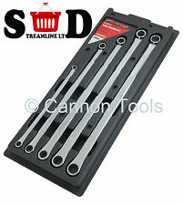 5 PC 8MM-19MM AVIATION MECHANICS EXTRA LONG BOX END SPANNER WRENCH SET CT1119