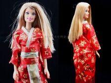 Baby Girls Gift Japanese Clothes Kimonos Custom Dresses For Barbie Dolls Toys