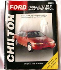 Chiltons Ford Taurus & Sable  Automotive Repair Manual 86 95