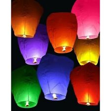 10 Multi-Color Faroles de Cielo Chinos flotante Flying linterna de papel fiesta/boda
