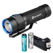 Olight S1A Baton 600 Lumen EDC LED Flashlight w/ 1x AA & 14500 Battery & Charger