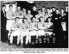 ACCRINGTON STANLEY FOOTBALL TEAM PHOTO 1954-55 SEASON