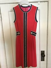 LILLY PULITZER Coral Pink Blue Game Day Sleeveless Dress XS