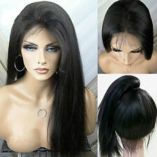 Synthetic Lace Front Wigs Natural Straight Black Women Baby Hair Heat Resistant