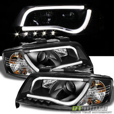 "Black 1998-2001 Audi A6 ""RS5 LED Style"" DRL Projector Headlights Lamp Left+Right"