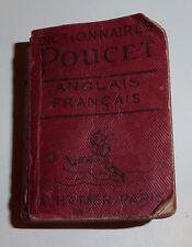 Vintage 1940s - A. Hatier Dictionaire Pouchet Anglais Francais