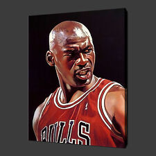 "MICHAEL JORDAN BASKETBALL CANVAS WALL ART PICTURES PRINTS 20""x16"" FREE UK P&P"