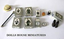 VINTAGE STYLE Gents oggetti Casa delle Bambole Miniature