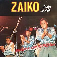 LP ZAIKO LANGA-LANGA AFRICAN RYTHMS SOUKOUSS ESPÉRANCE PRESS FR LP EX SIGN COVER
