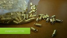 Lot 30 Embouts de Cordons Dorés Ressort Attaches 9x3,5 mm