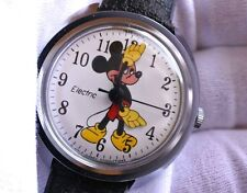 Mickey Mouse Watch Vintage TIMEX Electric Movement 1971 - NOS - Box + Papers