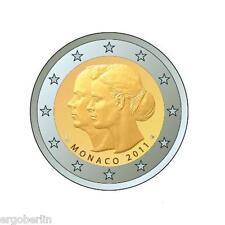 2 euros conmemorativa/especial moneda Monaco 2011 boda Albert y Charlene