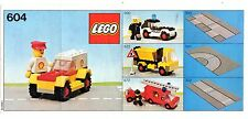 LEGO    604   LIBRETTO   NOTICE / INSTRUCTIONS BOOKLET / BAUANLEITUNG