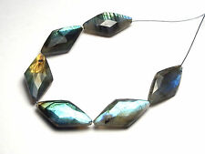 6 pcs LABRADORITE 24mm Faceted Diamond Beads AAA NATURAL /M2
