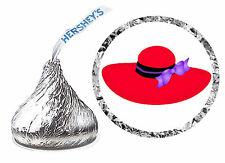 216 RED HAT BIRTHDAY PARTY FAVORS HERSHEY KISS LABELS