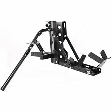 "Motorcycle 2"" Receiver Trailer Hitch Carrier Pull Behind Hauler Tow Towing Rack"