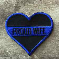 Thin Blue Line Proud Law Enforcement Wife Heart Patch