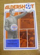 20/11/1976 Aldershot v Portsmouth [FA Cup] (Creased, Score Noted).  We are pleas