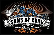 "3 -  Sons Of Coal Mining Club Underground Crawl 2"" Hard Hat Helmet Sticker H551"