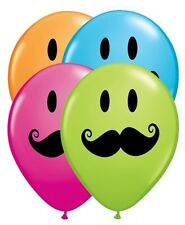 "10 pc - 11"" Mustache Smiley Face Latex Balloon Party Decoration Happy Birthday"