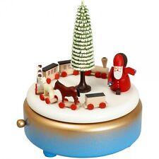 Spieldose Spieluhr Musikdose - blau Ruprechtzug Höhe 15,5 cm NEU