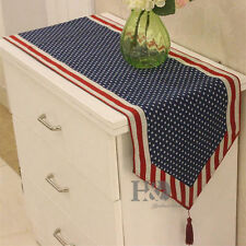 American Style Vintage Flag Table Runner Polyester Party Daily Table Cloth Decor