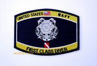 1ST FIRST CLASS DIVER UDT HAT PATCH US NAVY VETERAN SEAL TEAM EOD UDT RECON WOW