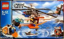 LEGO CITY COAST GUARD 7738 Coast Guard Helicopter & Life Raft c/w Motorise Winch