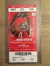 2016 Official Maryland vs Ohio State Ticket Stub 11/12/16 College Football