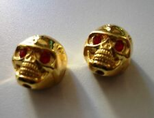 NEW 2 KNOBS METAL SKULL gold - bouton pour guitare Gibson, Epiphone,Fender...