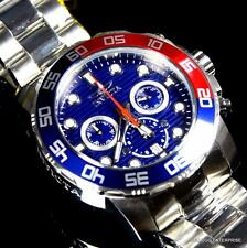 Mens Invicta Pro Diver Pepsi Cola Blue Red 50mm Chronograph Steel Watch New