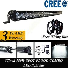 39 Inch CREE Curved LED Work Light Bar Spot 4x4WD Offroad Bumper Single Row 180W