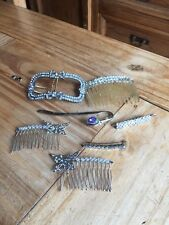Collection Of Hair Pieces/combs Clips Accessories
