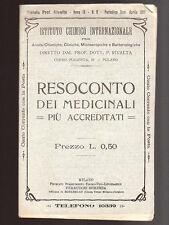 RESOCONTO DEI MEDICINALI PIù ACCREDITATI Rivista Prof. Rivalta