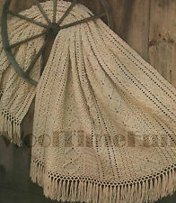 "Crochet Pattern Aran/Cable Design Afghan/Blanket. 52"" x 68""."