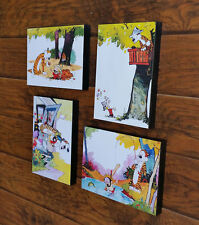 "Calvin and Hobbes 4 Print Set 01 Mounted 8 x 10"" Each"