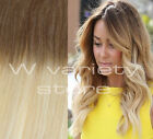 """24"""" THICK DIP DYE 6/613 BALAYAGE OMBRE CLIP IN REMY HUMAN HAIR EXTENSIONS BLONDE"""