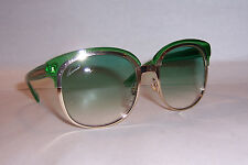 NEW GUCCI SUNGLASSES GG 4241/S EZA-7L GOLD GREEN / GREEN AUTHENTIC