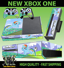 XBOX ONE CONSOLE ADESIVO RAINBOW DASH MY LITTLE PONY SKIN & 2 TAPPETINO
